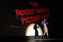 A screening of The Rocky Horror Picture Show begins with a striptease. - PHOTO BY CHERYL GERBER