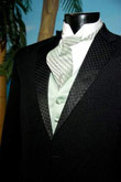 Basic Two Button Black tuxedo, Color Vest & Tie