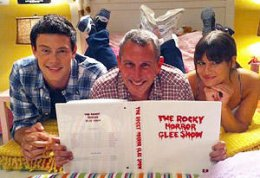 Cory Monteith, Adam Shankman and Lea Michele