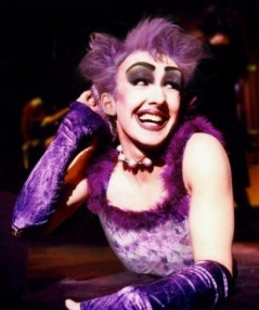 Kristian Lavercombe, as Frank 'n' Furter, in his first ever performance of the Rocky Horror Show at the Nelson Musical ...