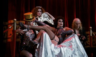Nell Campbell, left, Patricia Quinn, Tim Curry and Richard O'Brien.