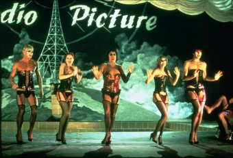 Peter Hinwood, Nell Campbell, Tim Curry, Susan Sarandon and Barry Bostwick in The Rocky Horror Picture Show. Photo Credit: 20th Century Fox.