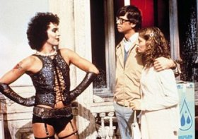 Tim Curry, Barry Bostwick and Susan Sarandon in The Rocky Horror Picture Show